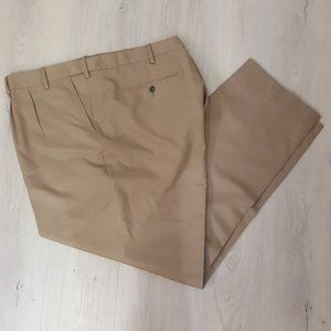Men's Pleated Front Wrinkle Resistant Pants Sz 60